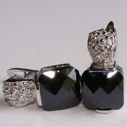 Black Onyx CZ Earrings