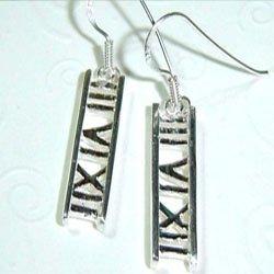 III IV V Sterling Silver Earrings