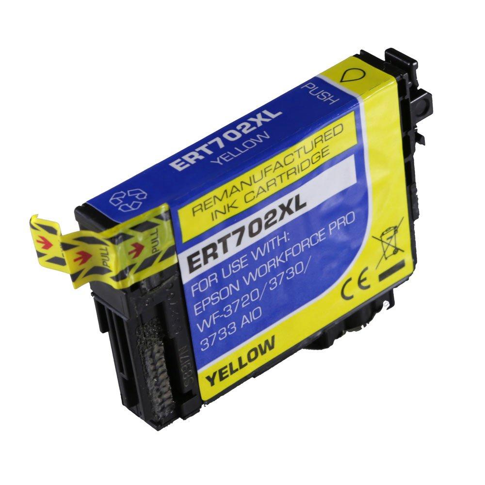 High-Yield Yellow Ink Cartridge For Epson 702XL 702XL420 / WF3720, WF3720DWF, WF3730, WF3733