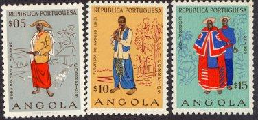 Angola #395-97, MH