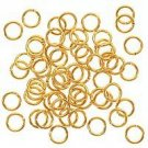 100 GOLD PLATED 5MM OPEN JUMP RINGS