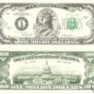 ONE MILLION DOLLAR BILL LADY LIBERTY/CAPITOL  NOVELTY/PLAY MONEY *MINT*