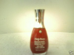 2- SALLY HANSEN DIAMOND STRENGTH  NAIL COLOR .45 OZ. *NEW*
