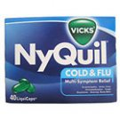 VICKS NYQUIL COLD & FLU MULTI-SYMPTOM RELIEF 40 LIQUICAPS~EXPIRED