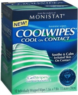 1 Monistat Coolwipes Feminine Wipes 12 Count Box Total 12 Wipes
