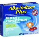 ALKA SELTZER PLUS MUCUS & CONGESTION 20 LIQUID GELS~EXPIRED