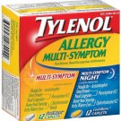 TYLENOL ALLERGY MULTI-SYMPTOM 24 CAPLETS COOL BURST DAYTIME/NIGHTTIME ~EXPIRED COLLECTABLE ONLY