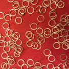 100 SILVER PLATED 5MM OPEN JUMP RINGS