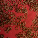 100 ANTIQUE BRASS  4MM OPEN JUMP RINGS