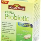 NATURE MADE Triple Probiotic Smart Release Caps 30ct EXPIRED 9-2013 EXPIRED