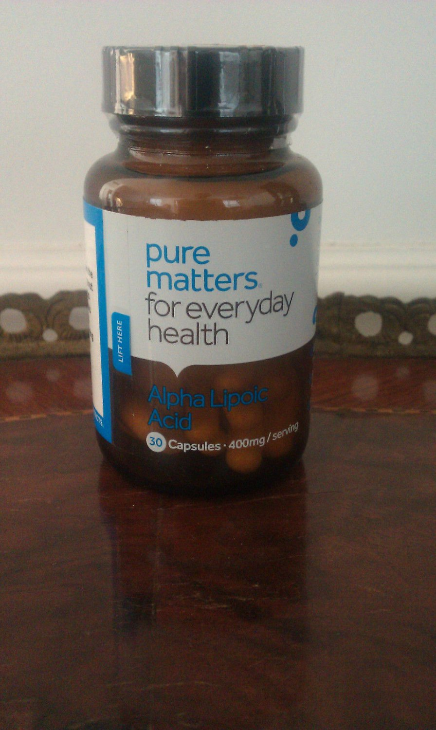 PURE MATTERS FOR EVERYDAY HEALTH ALPHA LIPOIC ACID 30 CAPSULES EXPIRED 01/2017 EXPIRED