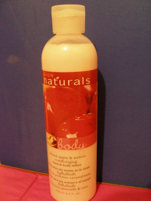 Avon Naturals Hand and Body Lotion -- Glazed Apple & Walnut