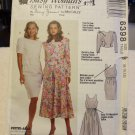 McCalls Busy Woman's Sewing Pattern 6398 Misses Dress & Back-Buttoned Jacket (size 8,10,12)