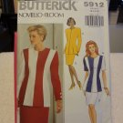 Butterick 5912 Misses' / Misses' Petite Zip Front Jacket & Skirt (sizes 12-14-16)