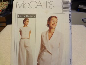 McCalls 8256 Lida Baday Misses' Jacket, Top & Pants, All Lined (size 10)