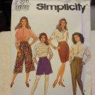 Simplicity 7386 Misses' Culottes, Slim Skirt & Pants (size 10-18)