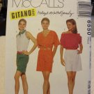 McCalls 6550 Misses' Tops & Short - For Stretch Knits Only (sizes XS,S,M)
