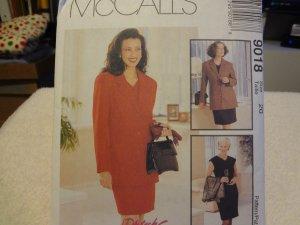 McCalls 9018 Misses' Lined Jacket & Lined Dress (Size 20)