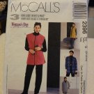 McCalls 2396 Misses' Unlined Jacket, Vest & Pull-On Pants (size 20,22,24)