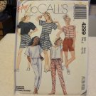 McCalls 4299 Misses' Tops, Skirt, Pants & Shorts (size S)