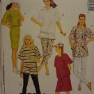 McCalls 5307 Misses' Dress, Tunic or Top, Leggings or Shorts, Cap (size 10,12)
