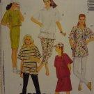 McCalls 5307 Misses' Dress, Tunic or Top, Leggings or Shorts, Cap (size 10,12)