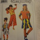 Simplicity 9677 Girls' Pants or Shorts & Camp Shirt in Two Lengths (all sizes inc)