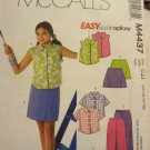 McCalls 4437 Girls' Top, Shorts, Capri Pants & Skort (size 10,12,14,16)