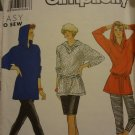 Simplicity 9927 Misses' Leggings, Skirt, Loose-fitting Top with Hood (size 6-24)