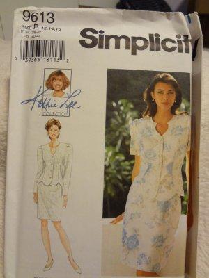 Simplicity 9613 Misses' / Miss Petite Two-Piece Dress (size 12,14,16)