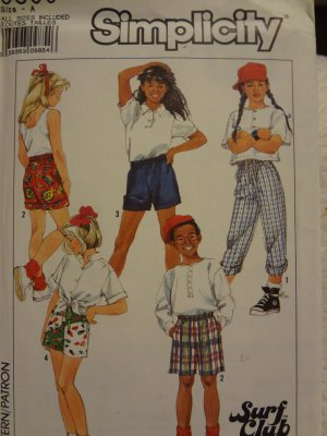 Simplicity 9500 Boys' & Girls' Easy-to-Sew Surfers in 3 Lengths (all sizes inc)