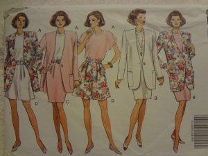 Butterick 5920 Misses'/Misses' Petite Jacket, Dress, Top, Skirt & Shorts (size 12,14,16)