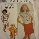 Simplicity 9636 Girls' Skirt, Pants, Shorts & Tops (Size 7-14)