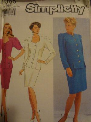Simplicity 7065 Misses'/Miss Petite Suit Dress (size 10-18)