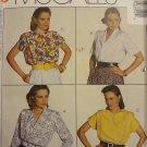 McCalls 4675 Misses' Blouses (size 14,16,18)