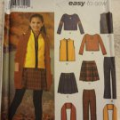 Simplicity 5945 Girls'/Girls' Plus Pants, Skirt, Vest, Scarf, and Knit Top (Size 8-16)