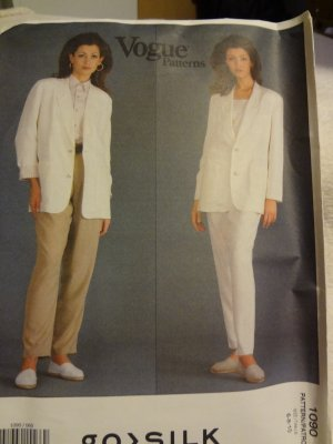 Vogue Go Silk 1090 Misses' Jacket & Pants (size 6,8,10)