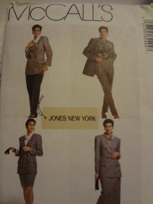 McCalls 6249 Misses' Lined Jacket, Blouse, Skirt in 2 lengths & Pants (size 12)