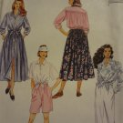 McCalls 6385 Misses' Shirt, Skirt, Pants & Shorts (size 4,6,8)