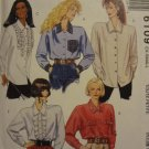 McCalls 6109 Misses' Blouse (size 6,8)