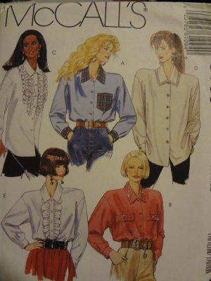 McCalls 6109 Misses' Blouse (size 18,20)