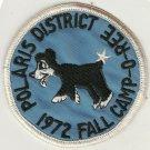 BSA 1972 Polaris District Fall Camporee patch