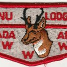 BSA 1970's era Lodge 346 Tannu Nevada Area - S4a Red brd Red ltrs