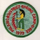 BSA 1973 Polaris District Spring Camporee patch - Texas