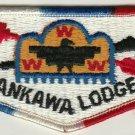 BSA 1970's era Lodge 307 Karankawa - S20b RBW bdr Blk ltrs (Bicentennial 1976)