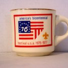 BSA 1970's Boy Scout Coffee Mug Cup America's Bicentennial Festival USA 1975-77