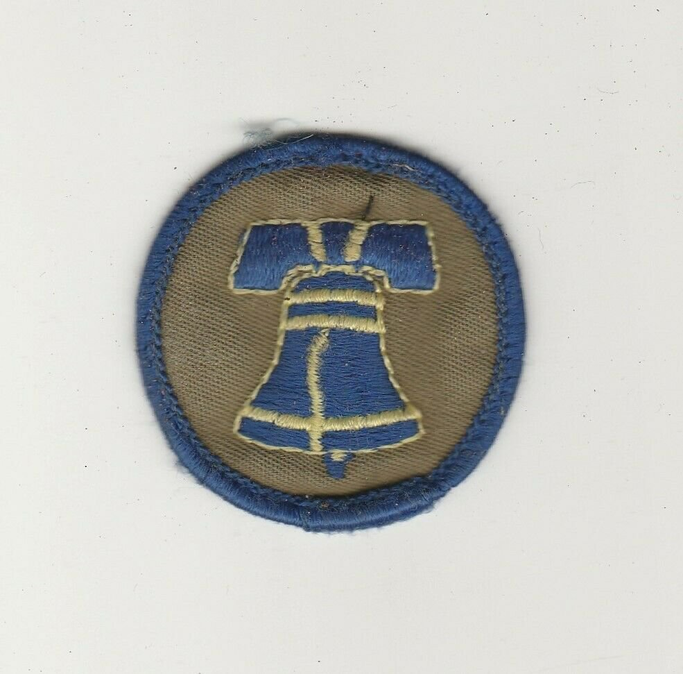 BSA 1970's Liberty Bell Patrol Patch Green Twill with glued back