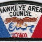 BSA 1970's Hawkeye Area Council Iowa CSP S1 council shoulder patch