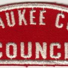 BSA 1970's Milwaukee County Council - Wisconsin - RWF shoulder patch
