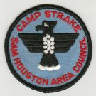 BSA 1970's Camp Strake Sam Houston Area Council - red ltrs blue bkgd patch